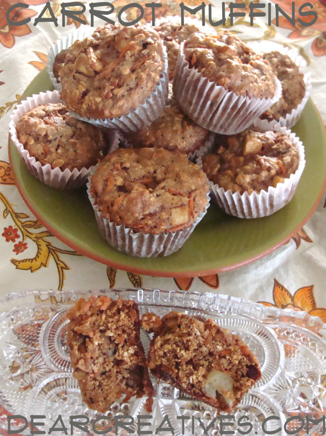 carrot muffins with apples - this muffin recipe is easy to make and makes a yummy on the go breakfast.