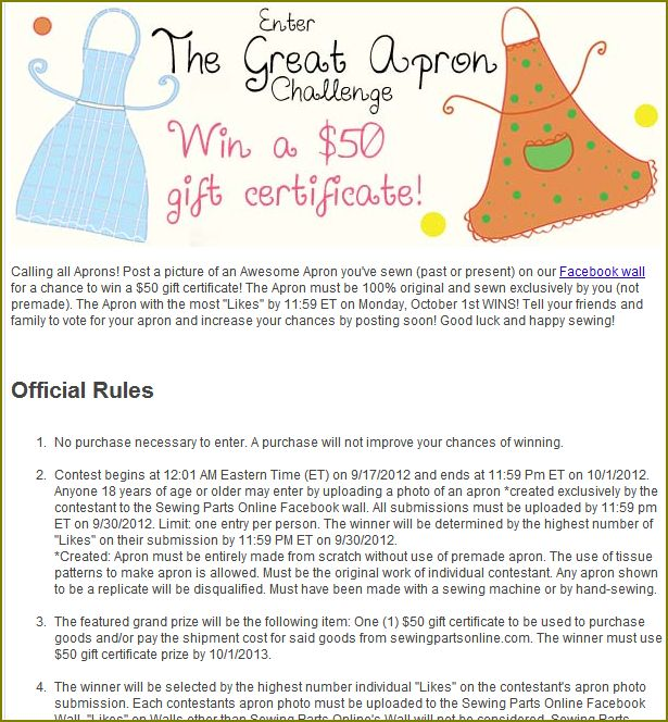 Contest: The Great Apron Challenge & How To Enter