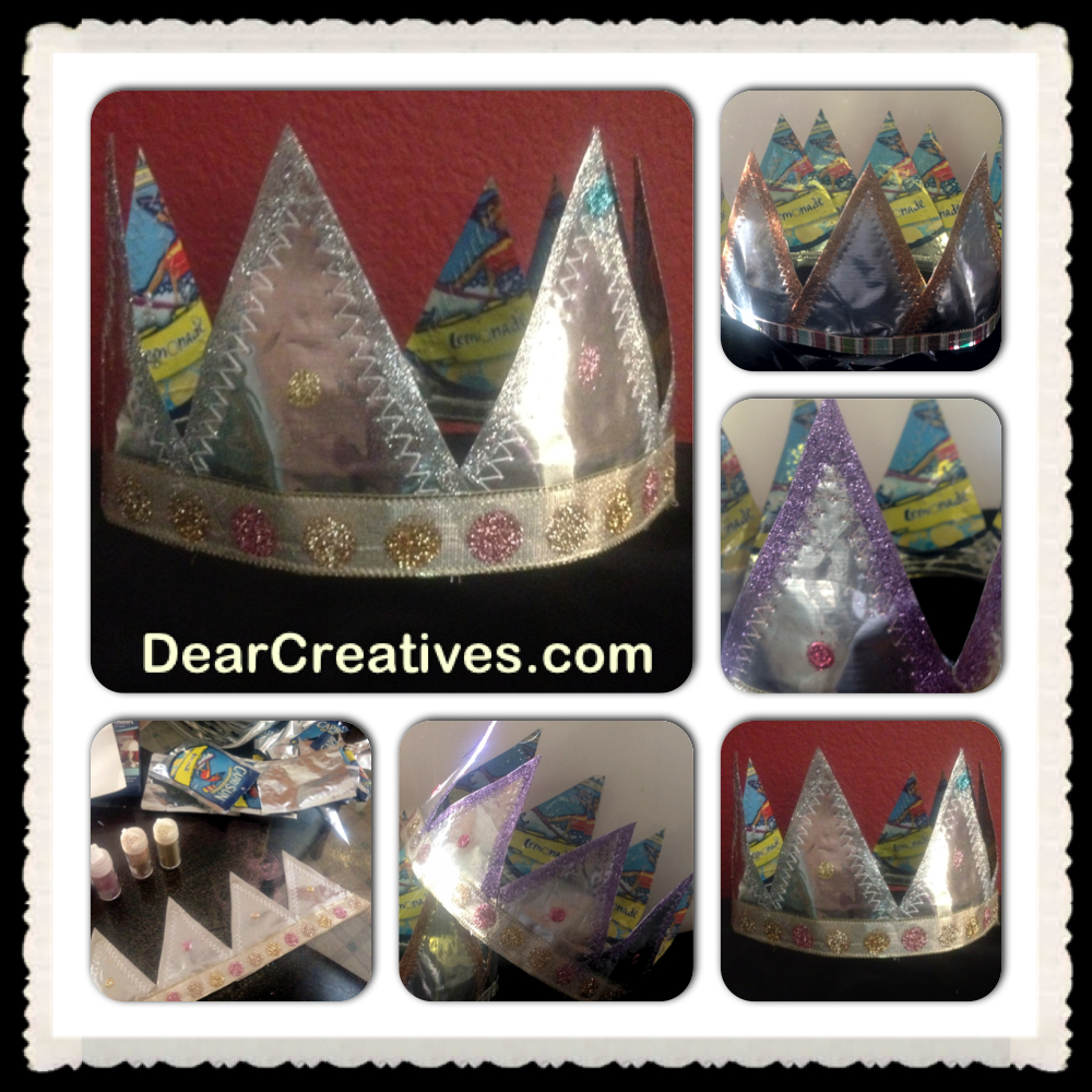 #Crafting Homemade Crowns From Recycled Capri Sun Pouches