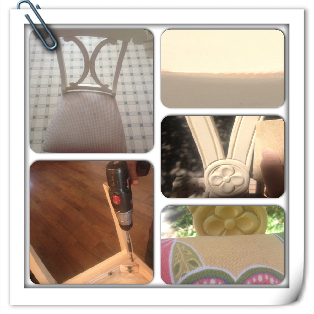 "Thrifty Tuesday ""Pottery Barn Chairs Re-Purpose Part 1"""