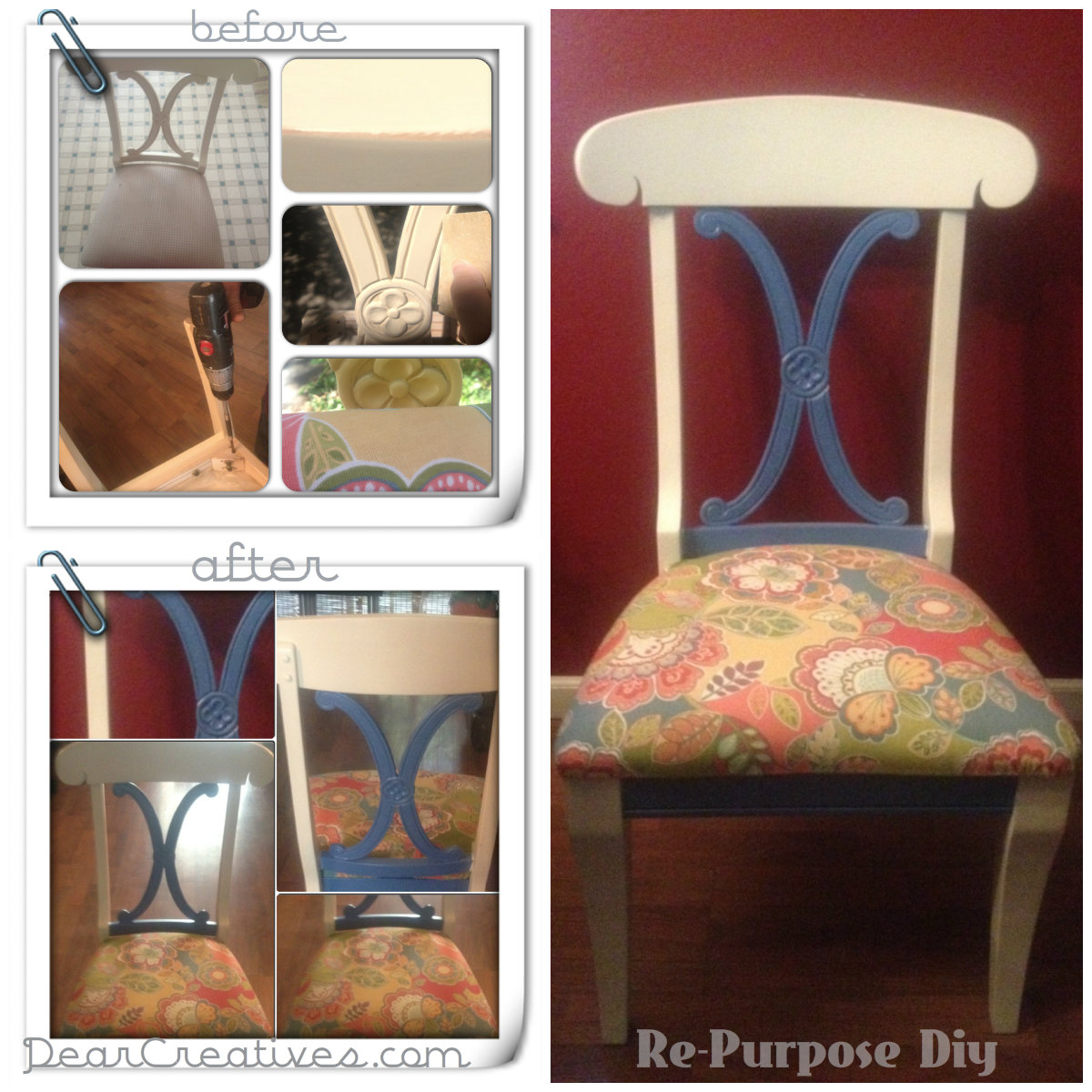 Re-Purposed Pottery Barn Chairs – Part 2 + #Diy Tutorial