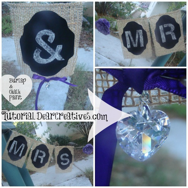 "Wedding Banner #Tutorial ""Mr. & Mrs."" (Burlap & Chalk Paint)"
