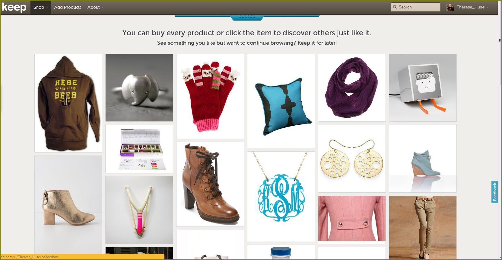 #Keep Products You Seek & Shop For