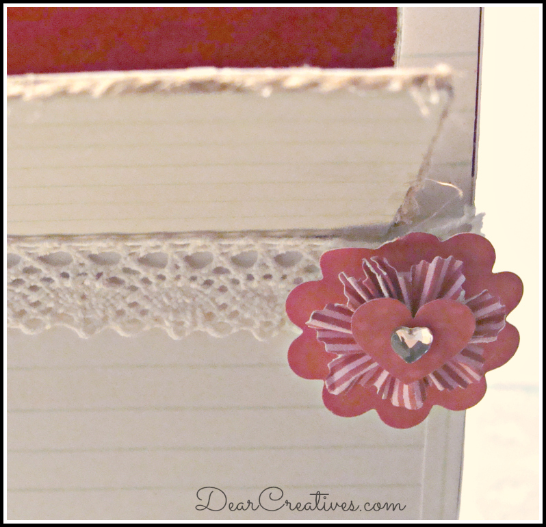 Close up Valentines box details & embellishments