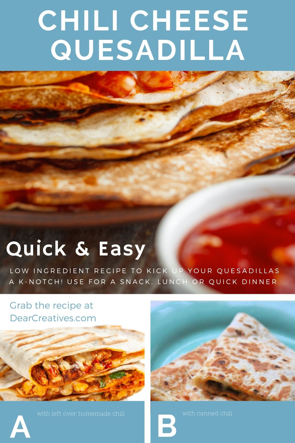 Chili Cheese Quesadillas Are So Easy To Make!