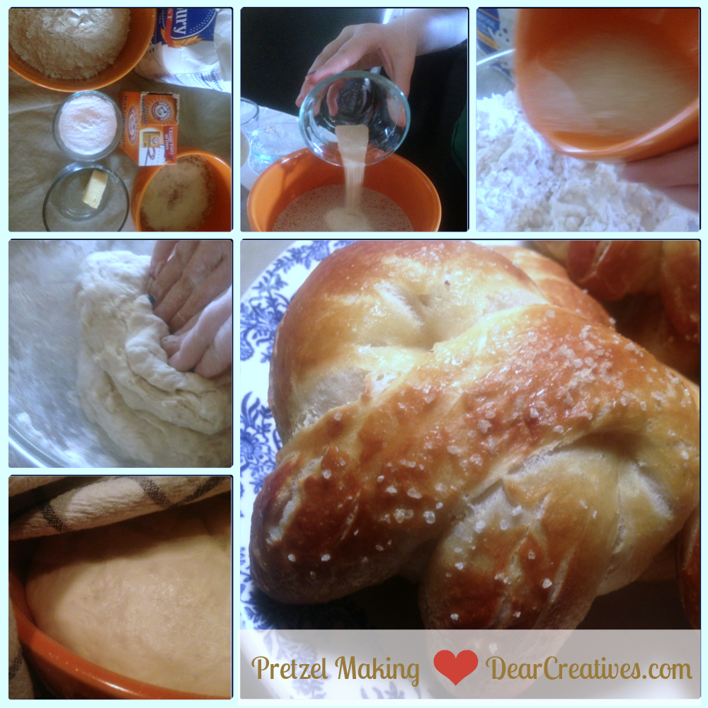 Pretzel making step by step DearCreatives.com Theresa Huse 2013