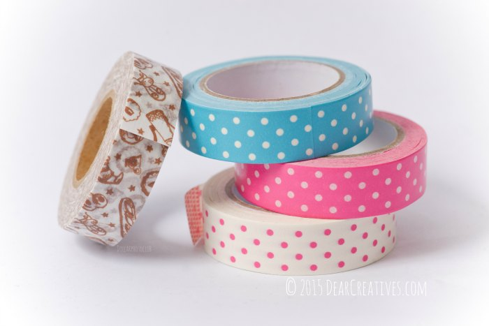 Washi Tape Stacked in a pile