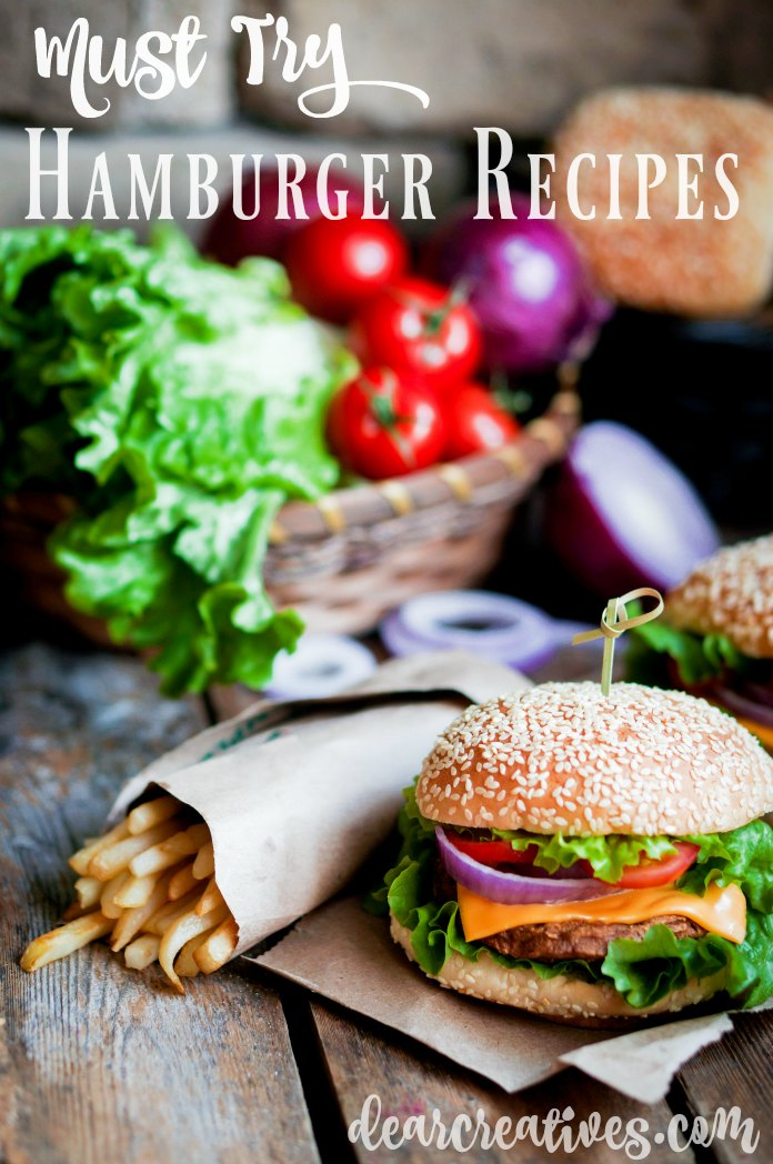 Hamburger Recipes Must try burger recipes that are perfect for grilling outdoors or indoors. Includes recipe for the All American Burger.