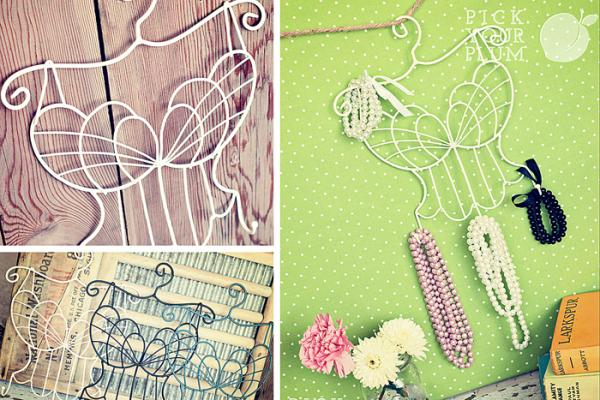 pick your plum accessory hanger, shabby chic jewelry holder