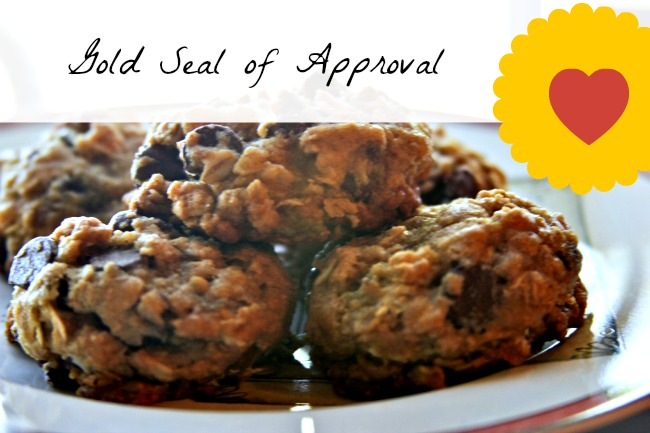 Oatmeal Chocolate Chip, Goal seal of approval © 2013 Theresa Huse 2013-1021