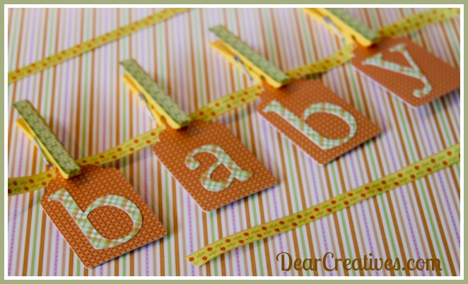 Paper-crafts, baby banner,Theresa Huse 2013-0967