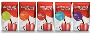 Seattles Best packages of coffee