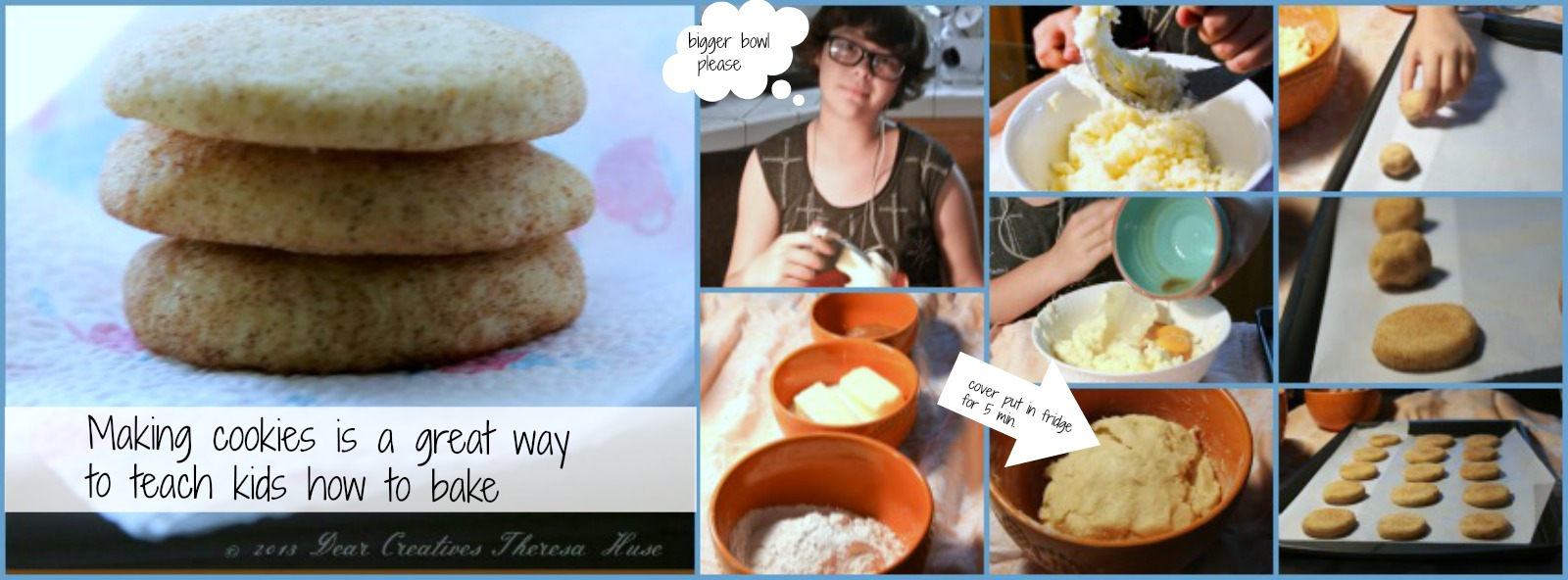 Making snicker-doodles step by step , baking with kids © 2013 Theresa Huse