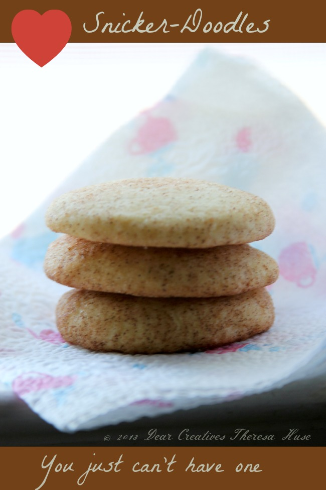 Stack of Three Snicker-doodle Cookies, Snicker-Doodles Theresa Huse 2013