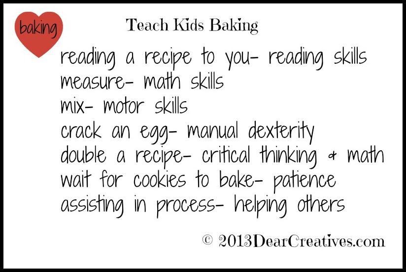Teach Kids Baking, Skills kids learn 2013 Theresa Huse