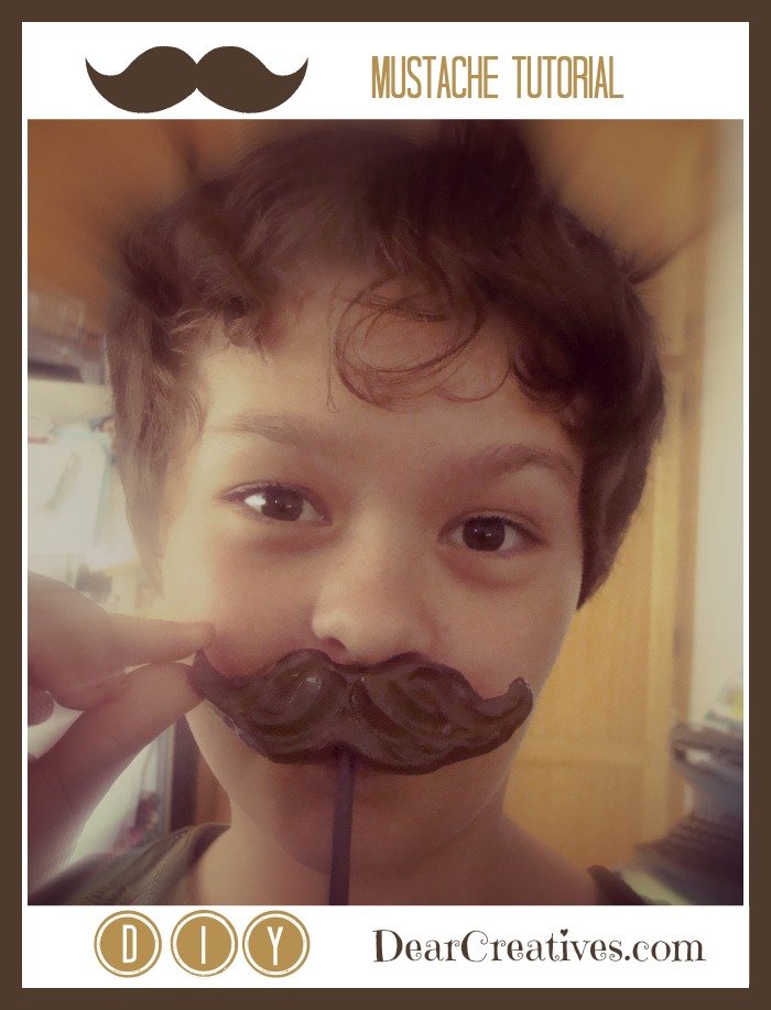 diy mustache tutorial, girl holding a photo prop mustache, photo props, Theresa Huse 2013