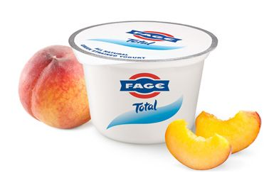 fage yogurt with peaches