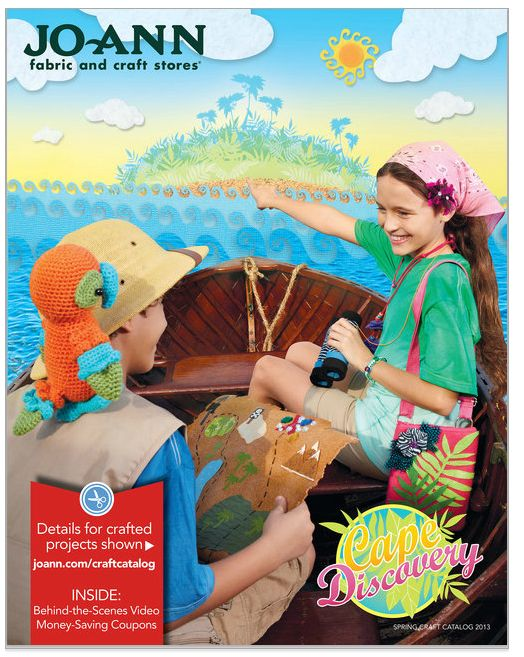 joanns craft catalog cover , cape discovery