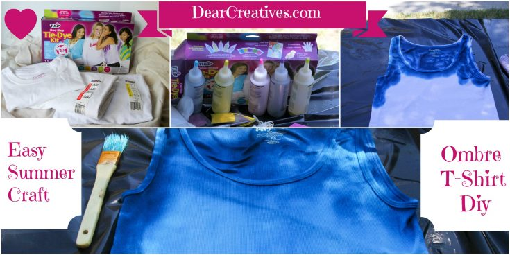 How to Tie-Dye Ombre T-Shirts. Tie-Dye Techniques, Tips and favorite tie-dye supplies. DearCreatives.com