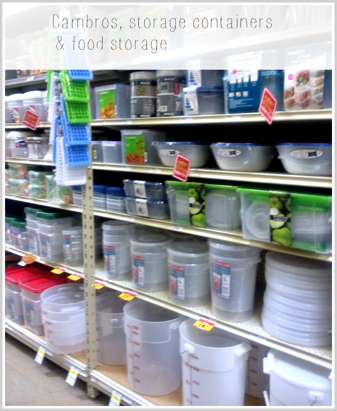 Smart & Final Paso Robles, CA cambros, storage containers, food storage