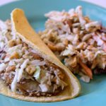 Fish Taco and coleslaw on a plate, Kraft Asian Fish Tacos, #shop, Theresa Huse 2013