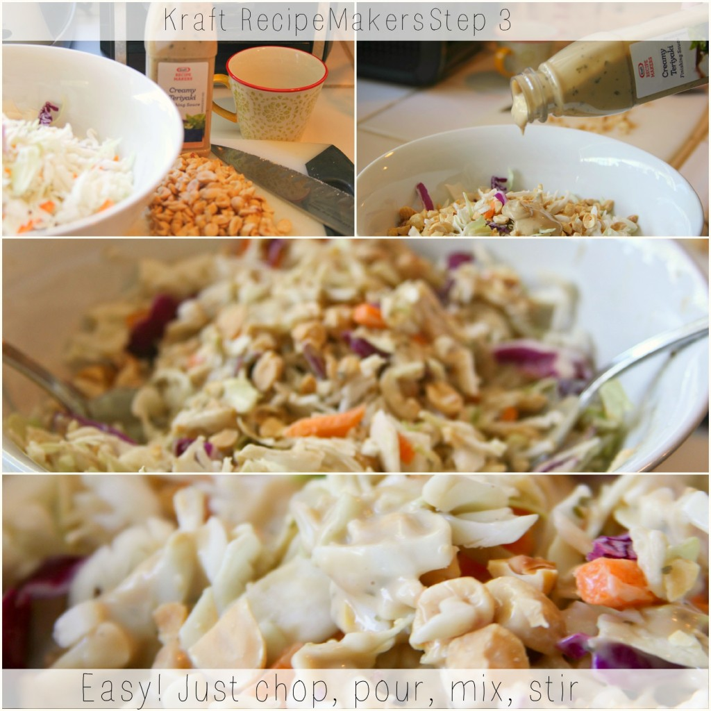 Kraft Recipe Makers, Step 3 coleslaw blends, nuts and finishing sauce, #shop, © 2013 Theresa Huse