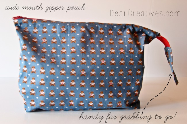 Wide Mouth Zipper Pouch, DearCreatives.com, Theresa Huse 2013