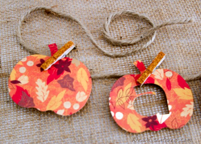 DIY Fall Pumpkin Banner