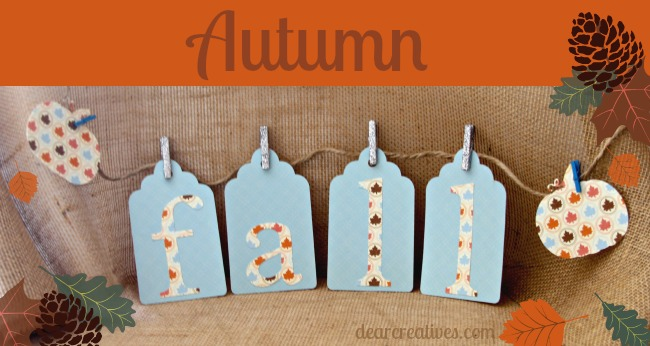 Easy Fall Banner #Paper-Crafting