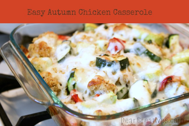 Chicken Casserole, easy dinner, one pot meal, DearCreatives.com, Theresa Huse 2013
