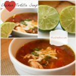 Easy Chicken Tortilla Soup, DearCreatives.com, collage,Theresa Huse 2013