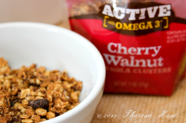 Granola in a bowl, Cherry Walnut Granola, DearCreatives.com, Theresa Huse 2013