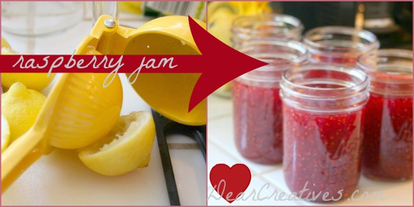 Canning, Jam, Raspberry Jam in Jars,DearCreatives.com, Theresa Huse 2013