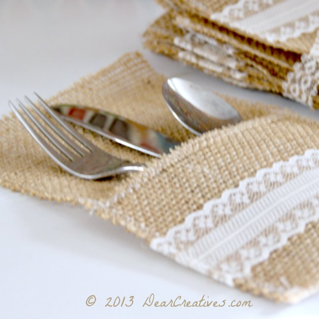 Burlap Crafts_ Burlap Utensil Holder_ Theresa Huse 2013