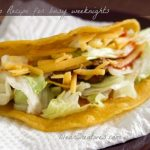 Taco on a plate_Taco with lettuce and cheese_DearCreatives.com_Theresa Huse 2013