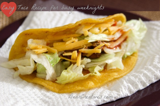 Easy Taco #Recipe + 25% Off #Craftsy Food & Cooking Classes & Submit Your Recipe