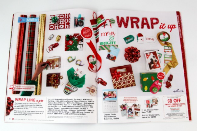 Wrap Like A Pro_ Wrapping Paper Ad Walgreens #shop_Theresa Huse 2013