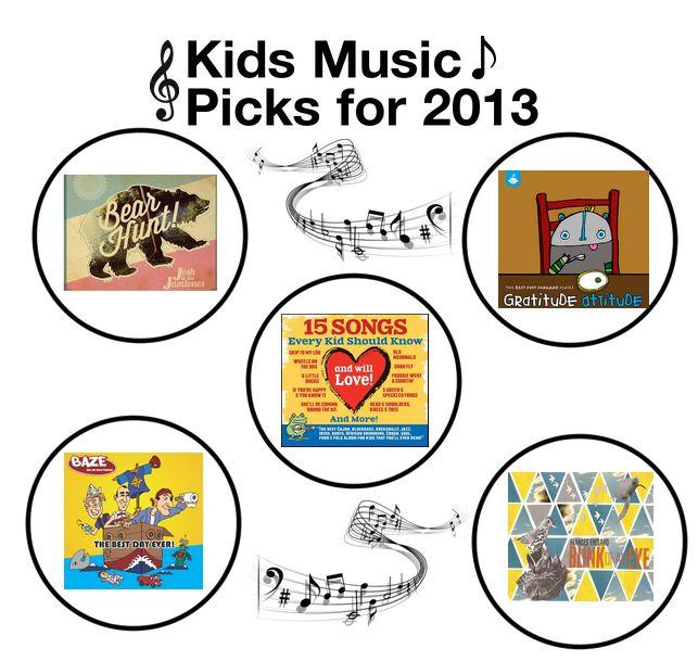 Holiday Round-Up: Top 5 Children's #Music CD's of 2013