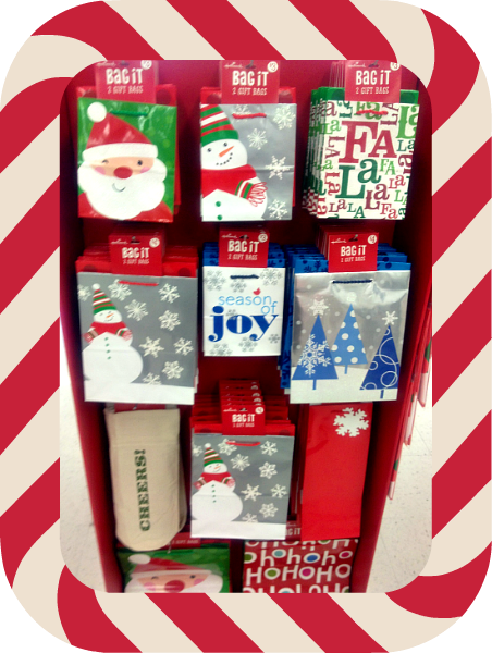 Walgreens Snowman Holiday gift bags & paper #shop