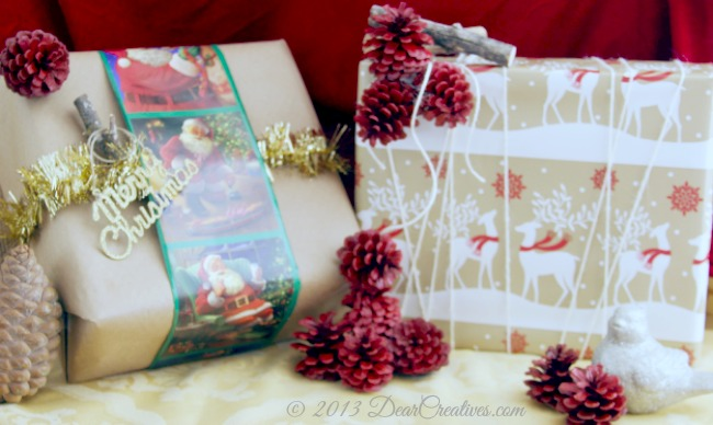 Woodland Holiday Wrapping_Christmas Wrapping papers_#shop_Theresa Huse 2013
