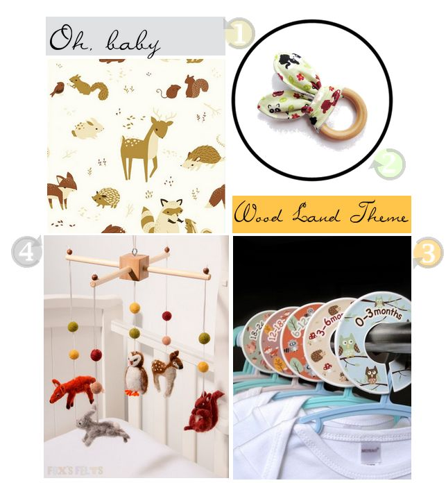 woodland themed baby items
