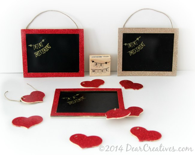 How To Decorate Mini Chalkboards – Be Mine DIY