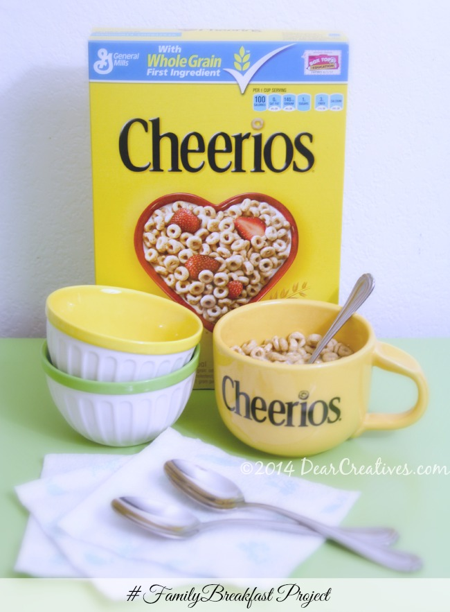 Family Breakfast Project Cheerios