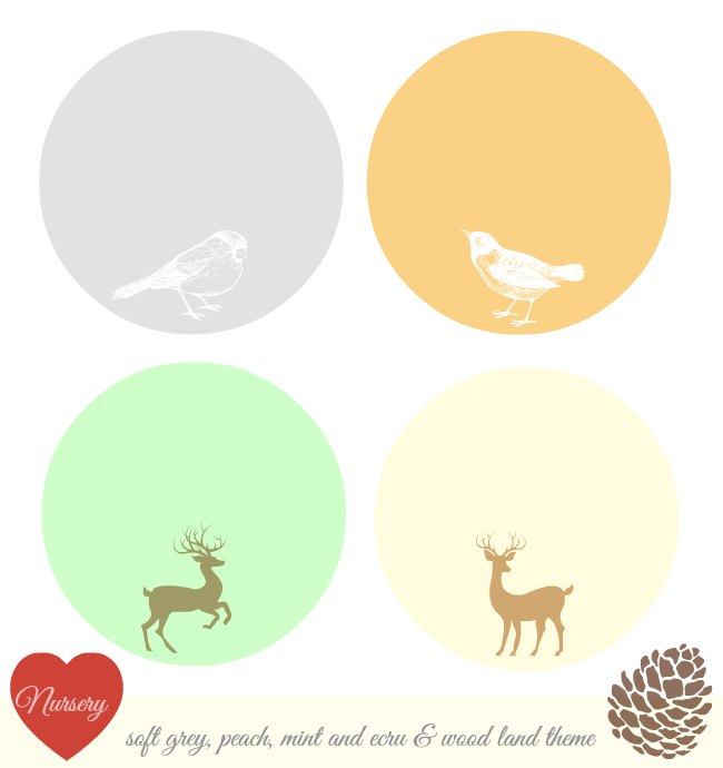 Nursery Color inspiration_ grey peach mint ecru_