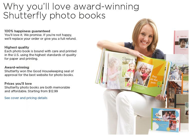 Save up to 50% on Shutterfly Photo Books, Calendars, Prints, and more