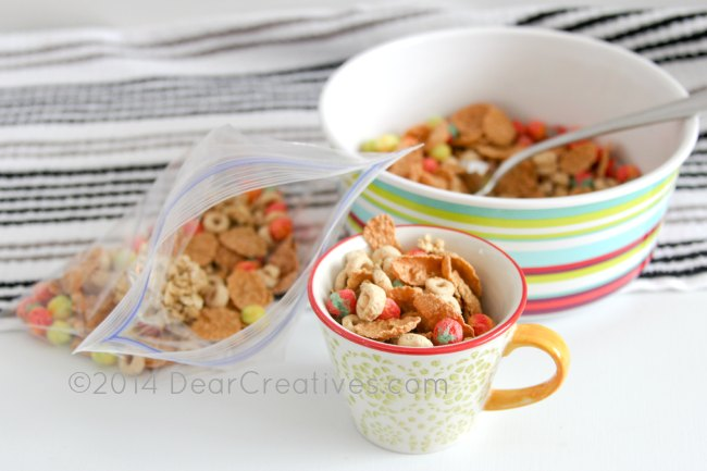 cereal in a bowl_cereal in a baggie_cereal in a measure cup