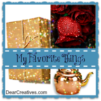 link up party |my favorite things linkup button dearcreatives