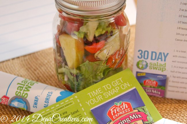 Fresh Express 30 day Salad Swap coupons and salad in a jar_