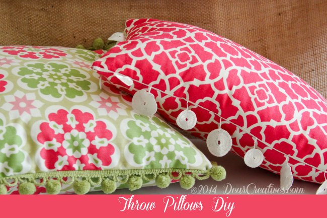 DIY Throw Pillows + How To Add Trims To Throw Pillows