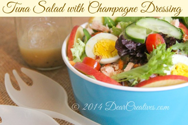 Meal Planning Ideas for Salads + White Albacore Tuna Champagne Salad & Recipes